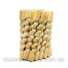 Бігуді-спіральні коклюшки дерев'яні короткі для хімічної завивки, малі L=10.8 см (25 шт/комплект)