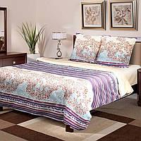 Комплект постельного белья ТЕП (Бежевый, фиолетовый)