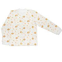 Детская кофта  (Белый с оранжевым, слон)