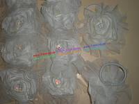 Бант на резинке BIG4891 ткань 12 шт