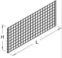 Панель решетчатая. Панель к стеллажу. Панельная стенка. Зашивка стеллажа