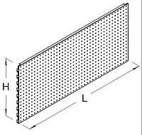 Панель к стеллажу. Панель перфорированная к стеллажу. Панельная стенка. Перфорация к  стеллажу