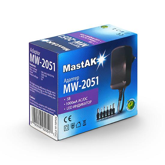 Сетевой блок питания MastAK MW-2051 (5в 1А)