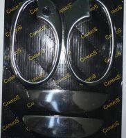 Opel Combo накладки на ручки с ободком (2 шт) нерж