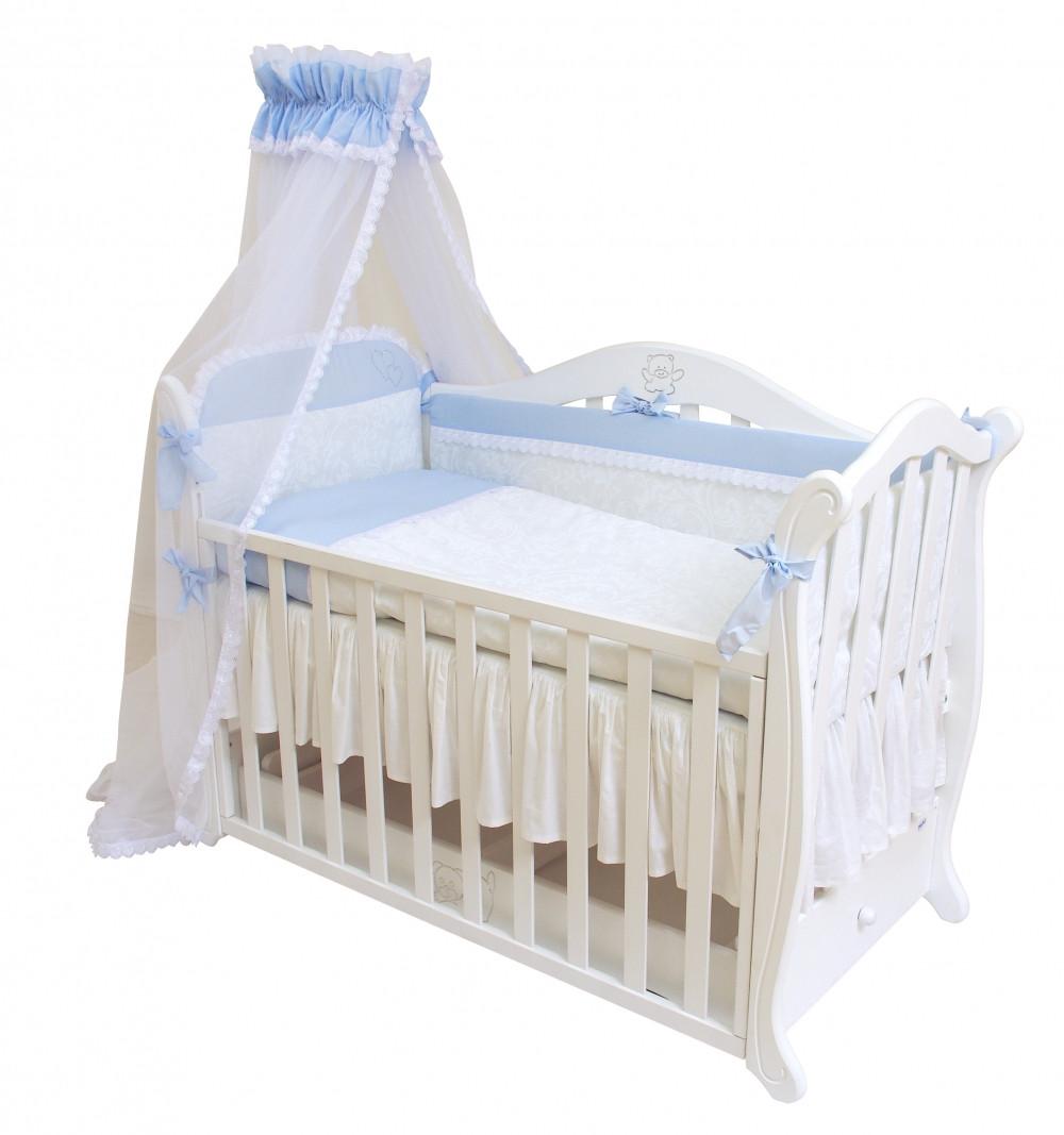 Детский постельный комплект Evolution «Снежная королева» (Голубой, А-008, 7 элементов), Twins