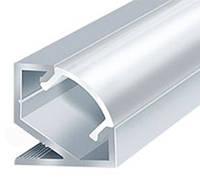 Профиль для светодиодной ленты ЛПУ17 (2м) неанодированный с рассеивателем
