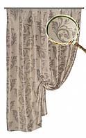 Ткань  блэкаут  Венеция серая №18