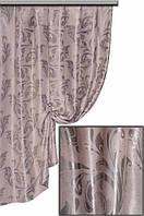 Ткань  блэкаут  Венеция серый с серебром №22