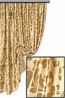 Тканина блекаут золотий вінтаж №2