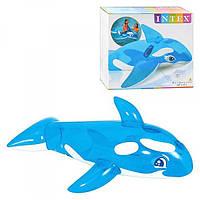 Детская надувная игрушка плотик касатка с ручками держателями: 168х86см