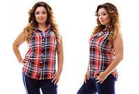 Рубашка цветная креп шифон (DV-561) 48