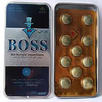 """Препарат для повышения потенции """"BOSS"""", а также  продления полового акта и увеличения пениса (10 таблеток упаковка)"""