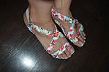 Босоножки с цветами 37р  маломерят, фото 3