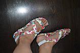 Босоножки с цветами 37р  маломерят, фото 5