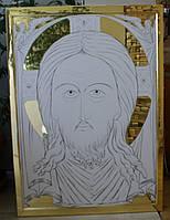 Золочение сусальным золотом ровных и гравированных фонов икон