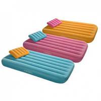 Надувной матрас с подушкой для детей Intex