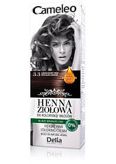 Травяная мусс-краска для волос Delia Cosmetics Cameleo на основе натуральной хны 75 мл 1.0 Чёрная