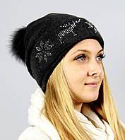 Женская шапка на флисе