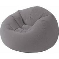 Надувное кресло для дома, природы, дачи винил Intex Интекс 107х104х69 см