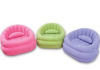 Надувное кресло велюровое Intex Интекс 91х102х65 см