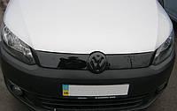 Зимняя накладка Volkswagen Caddy 2010- (верх решетка), Глянец, фото 1