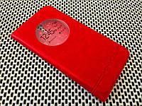 Кожаный чехол книжка Momax для ZUK Z1 красный