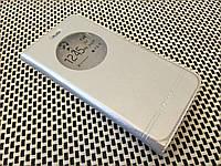 Кожаный чехол книжка Momax для ZUK Z1 серебристый