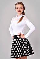 Подростковая юбка в горошек