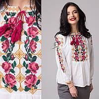 Подростковая блуза с вышивкой Розы нежные