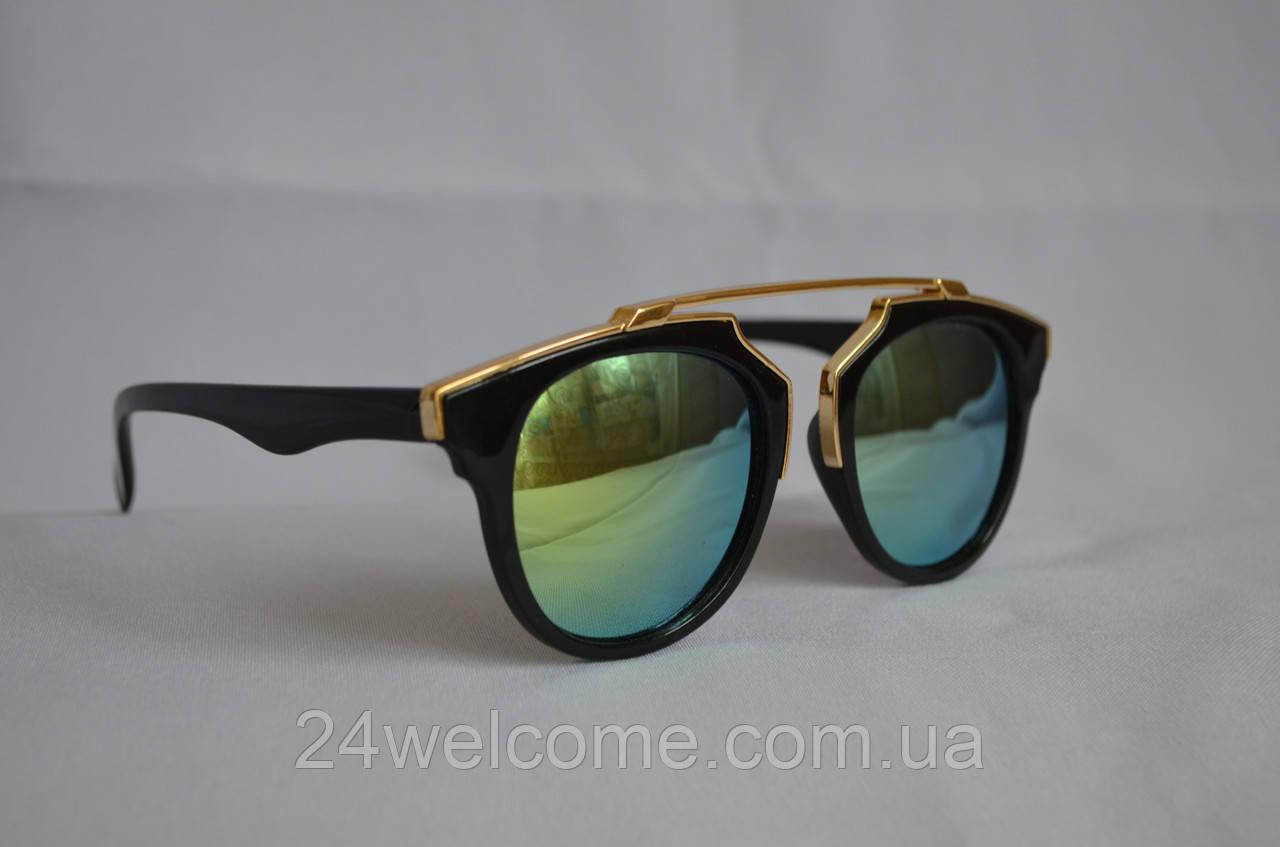Солнцезащитные очки женские DIOR черно-зеленый - Интернет магазин WELCOME в  Харькове 1fe46cf4aa3