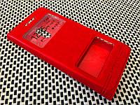 Кожаный чехол книжка Momax для Meizu Pro 6 красный, фото 1