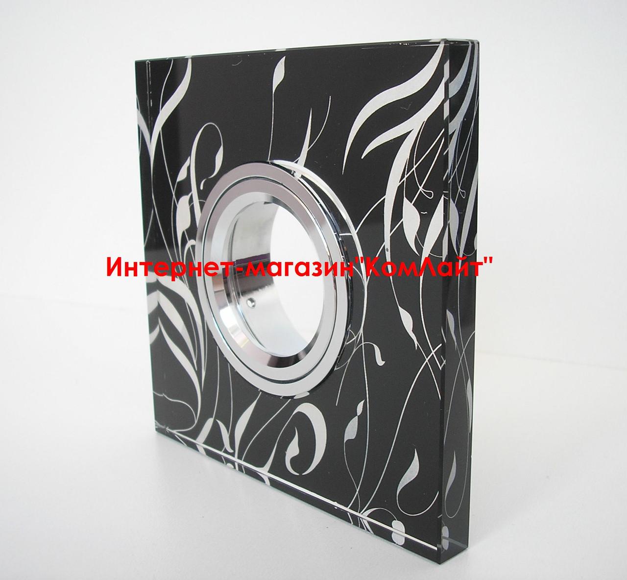 Точечный светильник встраиваемый CTC-F 2416 цвет черный + серебро