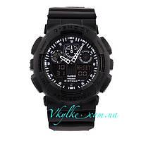 Часы Casio G-Shock GA-100 черные с черным, фото 1