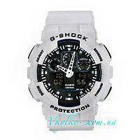 Часы Casio G-Shock GA-100 белые с черным, фото 1