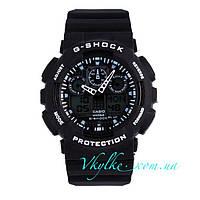 Часы Casio G-Shock GA-100 черные с белым