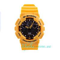 Часы Casio G-Shock GA-100 желтые