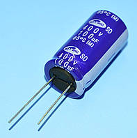 Конденсатор электролитический   100мкФ 400В Samwha 85*С SD 18*35.5