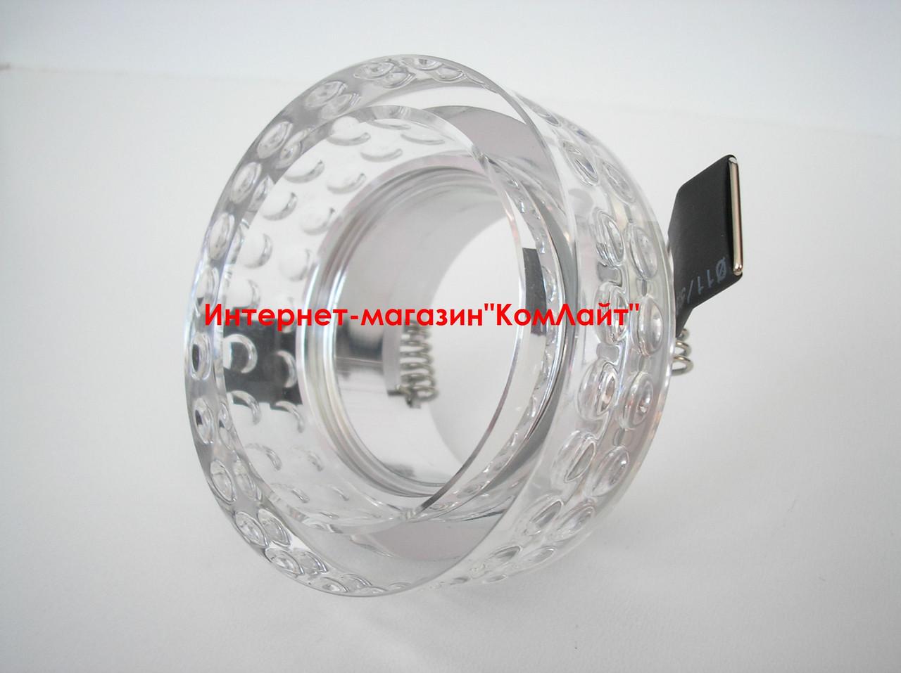 Точечный светильник встраиваемый CTC-F 2608 цвет прозрачное стекло