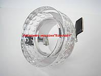 Точечный светильник встраиваемый CTC-F 2608 цвет прозрачное стекло, фото 1