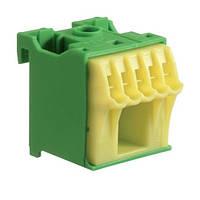Блок дополнительных PE-клемм 1x16 mm² + 5x4 mm², Hager KN06E