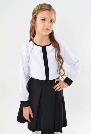 Шкільна ошатна стильна чорна спідниця з бантиком, фото 2