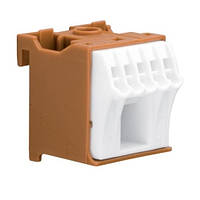 Блок дополнительных фазных-клемм 1x16 mm² + 5x4 mm², Hager KN06P