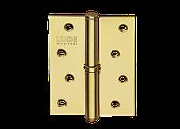 Петля для дверей стальная съемная левая LINDE H-100 L BP полированная латунь