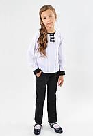 Школьные польские черные брюки для девочки от Мikrus