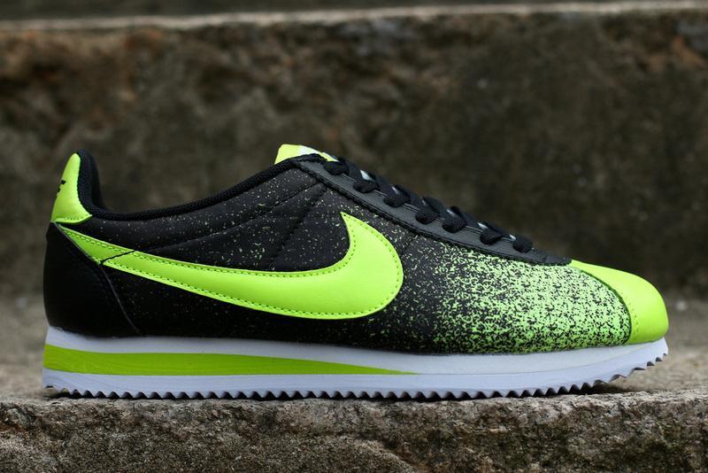 Кроссовки Nike Cortez 2015 (Black/Green)