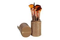Набор кистей для макияжа 12 шт в тубусе Shimmering Bronze - 12 Piece Brush Set BH Cosmetics Оригинал