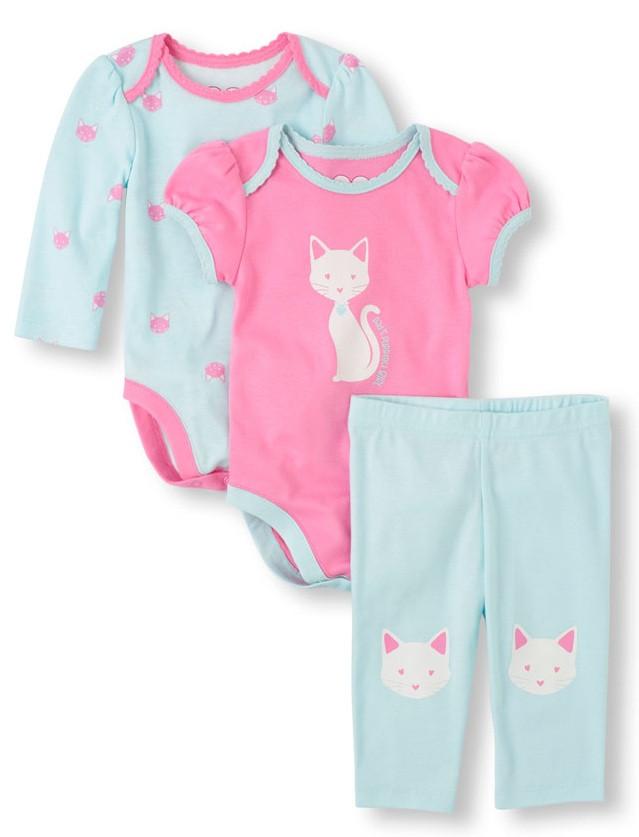 Красочный комплект для новорожденной девочки на 6-9 мес The Children'sPlace (США)
