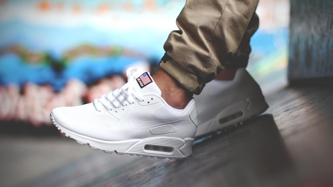 2e33ea76 Кроссовки Nike Air Max 90 Hyperfuse Independence Day USA (White) -  Интернет-магазин