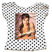 Женская футболка в горошек Анджелина Джоли