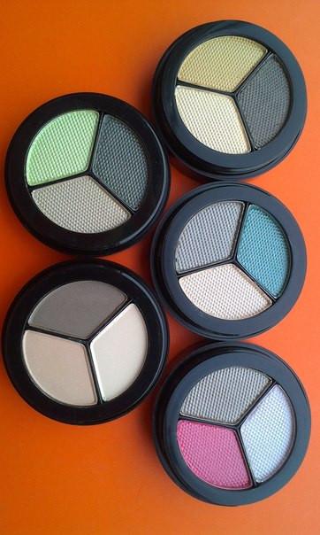 Коллекция теней для глаз Opal Paese тройные перламутровые